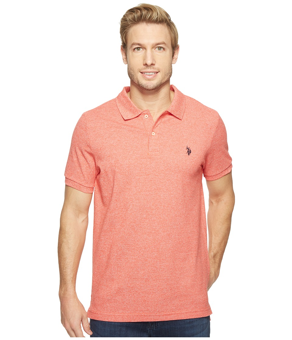 U.S. POLO ASSN. - Twisted Yarn Polo Shirt (Crimson Fire) Men's Short Sleeve Knit