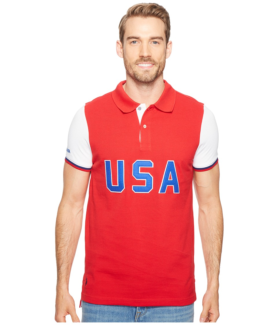 U.S. POLO ASSN. - USA Polo Shirt (Winning Red) Men's Clothing
