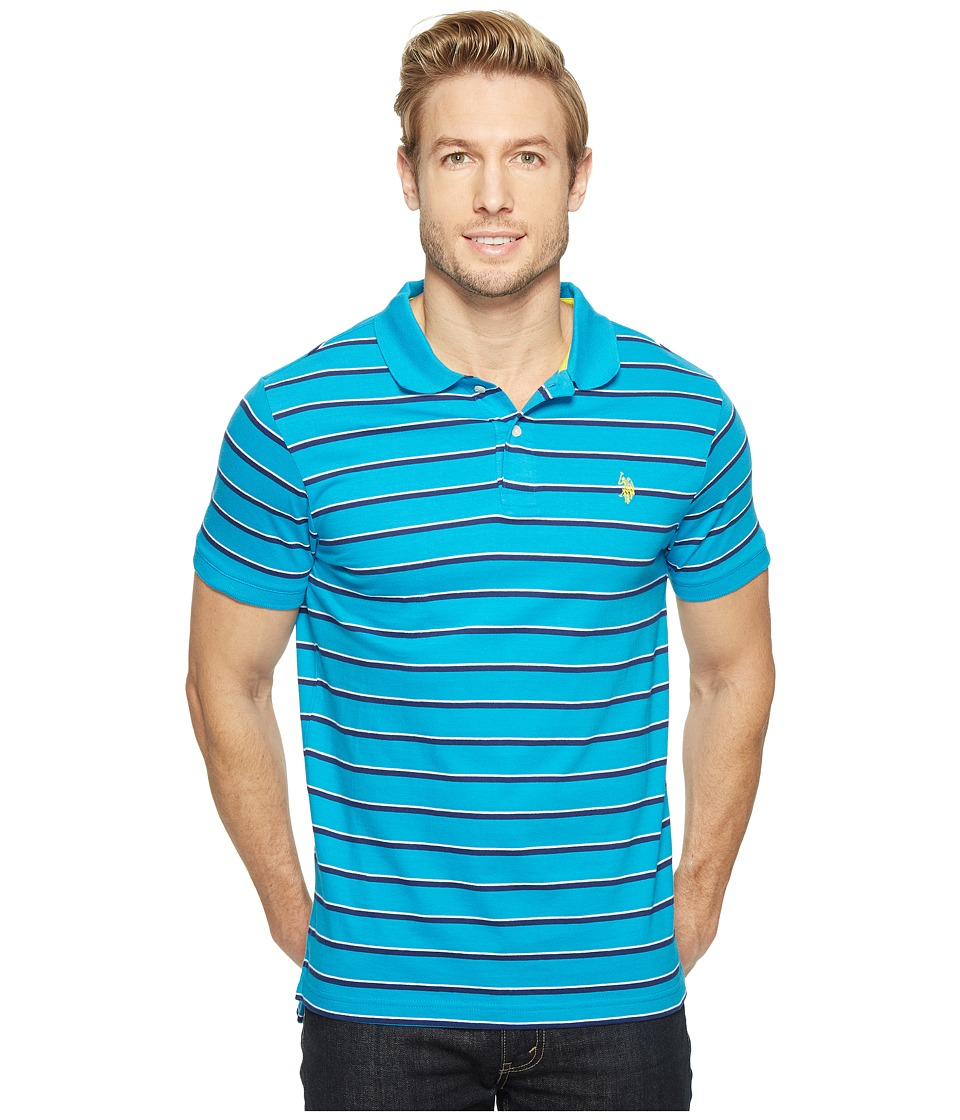 U.S. POLO ASSN. - Solid Jersey Polo Shirt (Flip-Flop Blue) Men's Clothing