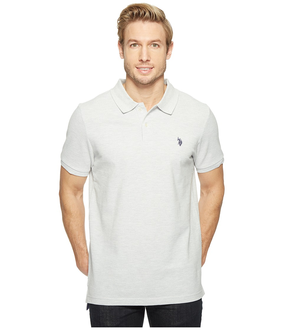 U.S. POLO ASSN. - Twisted Yarn Polo Shirt (Light Heather Gray) Men's Short Sleeve Knit