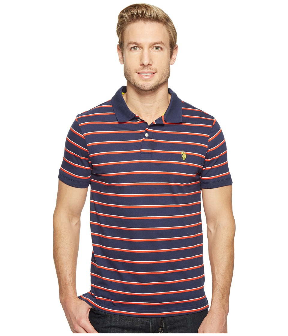 U.S. POLO ASSN. - Solid Jersey Polo Shirt (Classic Navy) Men's Clothing