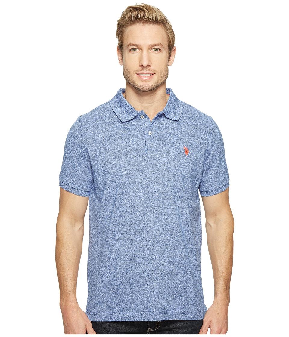 U.S. POLO ASSN. - Twisted Yarn Polo Shirt (Blue Tie) Men's Short Sleeve Knit