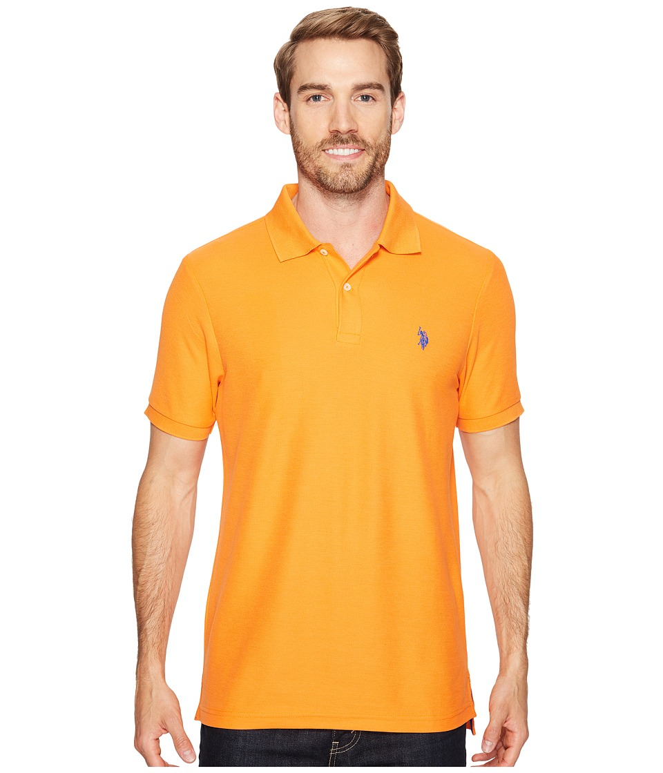 U.S. POLO ASSN. - Ultimate Pique Polo Shirt (Stadium Orange) Men's Clothing