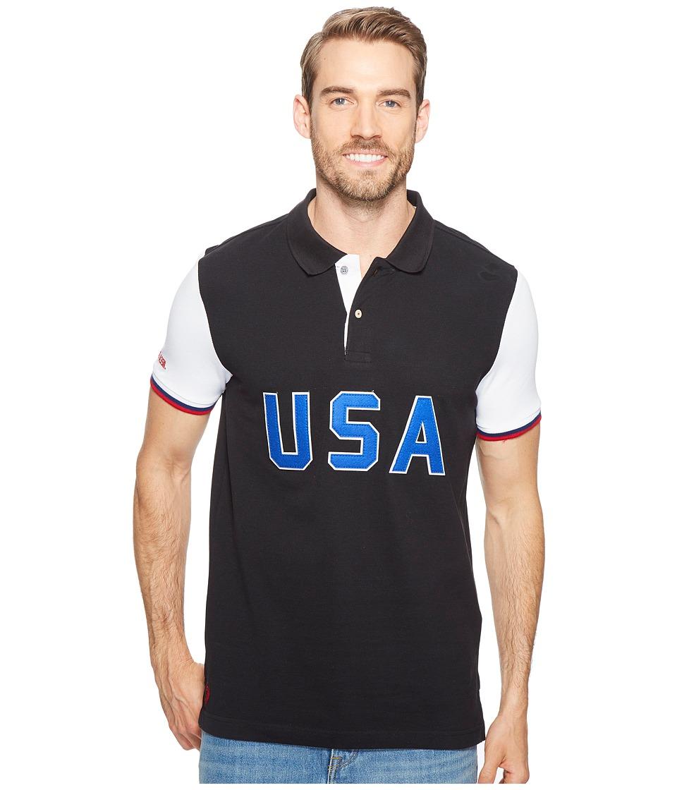 U.S. POLO ASSN. - USA Polo Shirt (Black) Men's Clothing