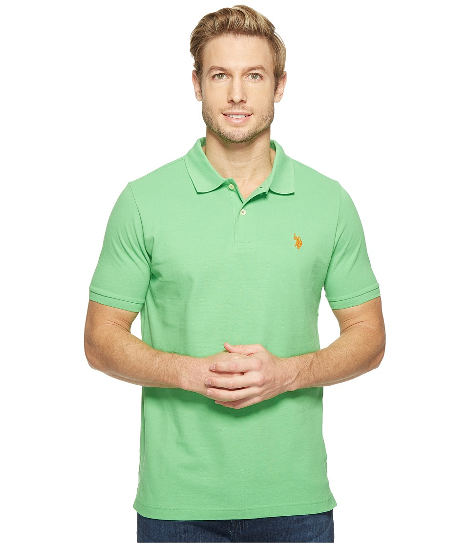 U.S. POLO ASSN. - Solid Cotton Pique Polo with Small Pony (Sea Grass) Men's Short Sleeve Knit