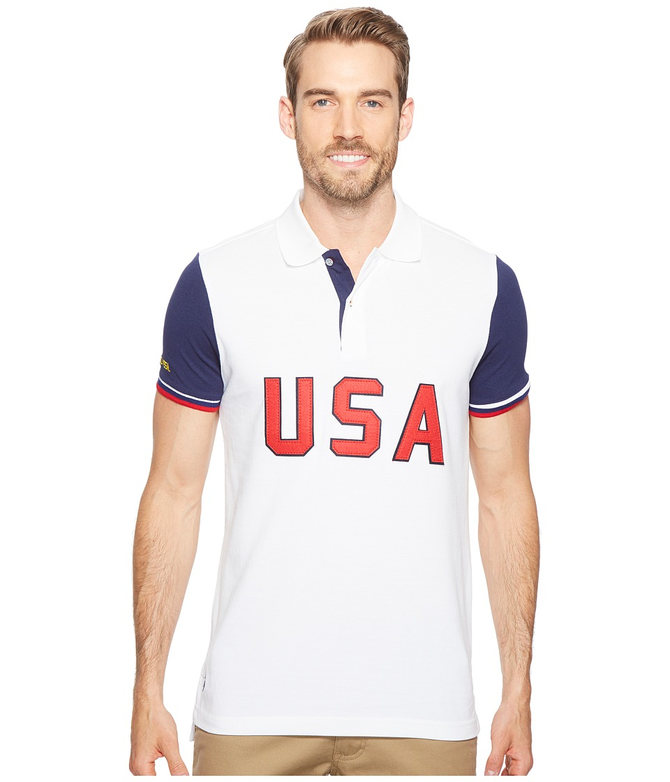 U.S. POLO ASSN. - USA Polo Shirt (White) Men's Clothing