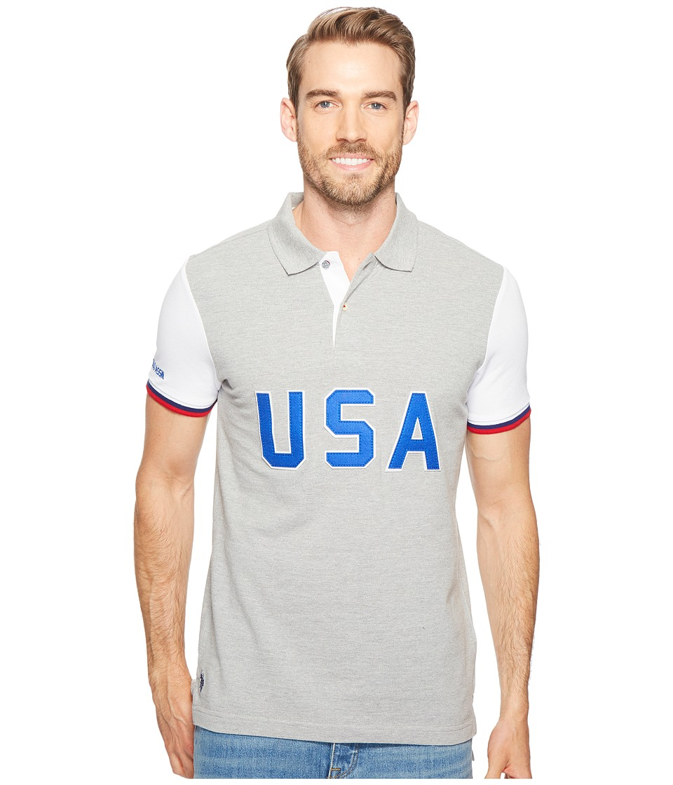 U.S. POLO ASSN. - USA Polo Shirt (Heather Grey) Men's Clothing