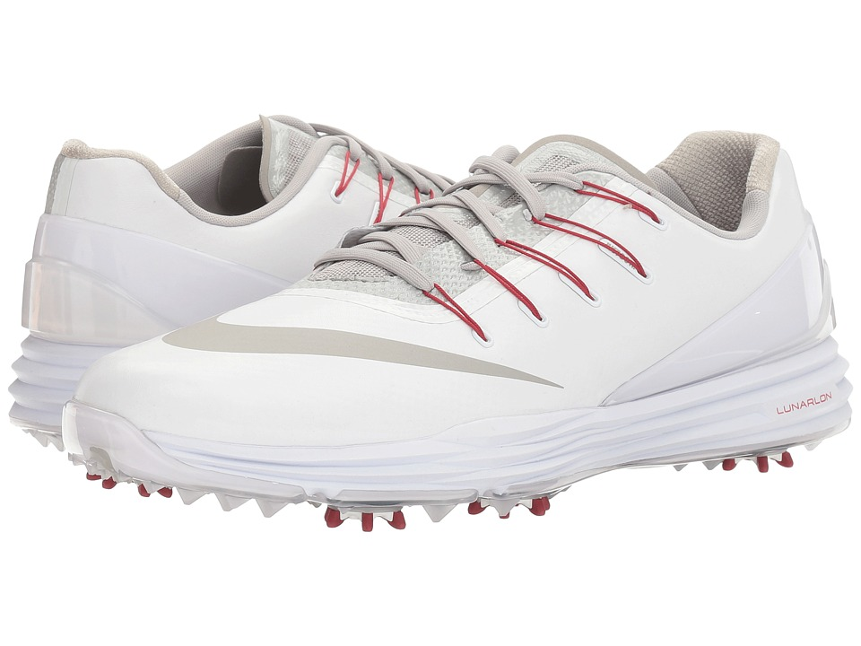 Nike Golf - Lunar Control 4 College (White/Black/Team Crimson) Men's Golf Shoes