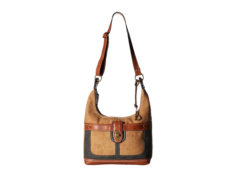 b.o.c. - Vandenburg Crossbody (Saddle/Charcoal/Walnut) Cross Body Handbags