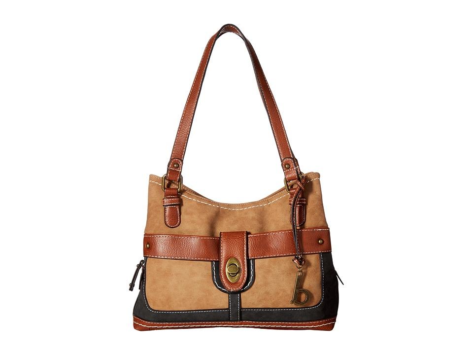 b.o.c. - Vandenburg Shopper (Saddle/Charcoal/Walnut) Handbags