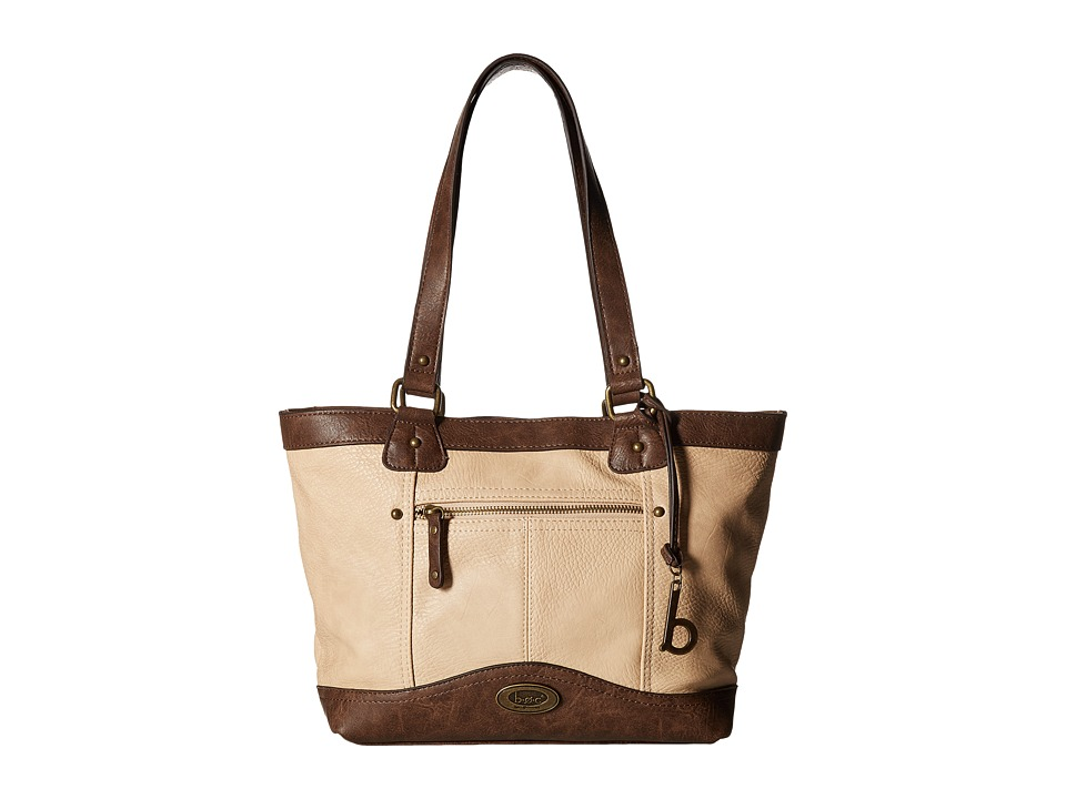 b.o.c. - Potomac Tote with Power Bank (Stone/Saddle) Tote Handbags