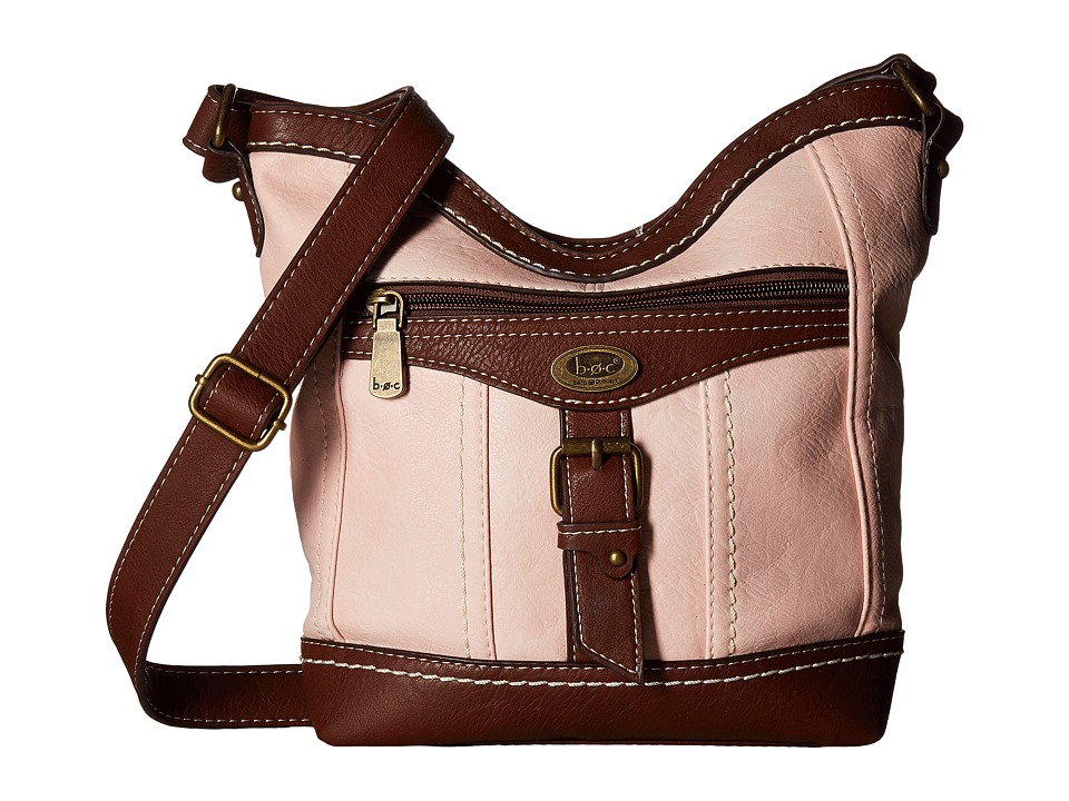 b.o.c. - Bal Harbour Power Bank Crossbody (Blush/Saddle) Cross Body Handbags