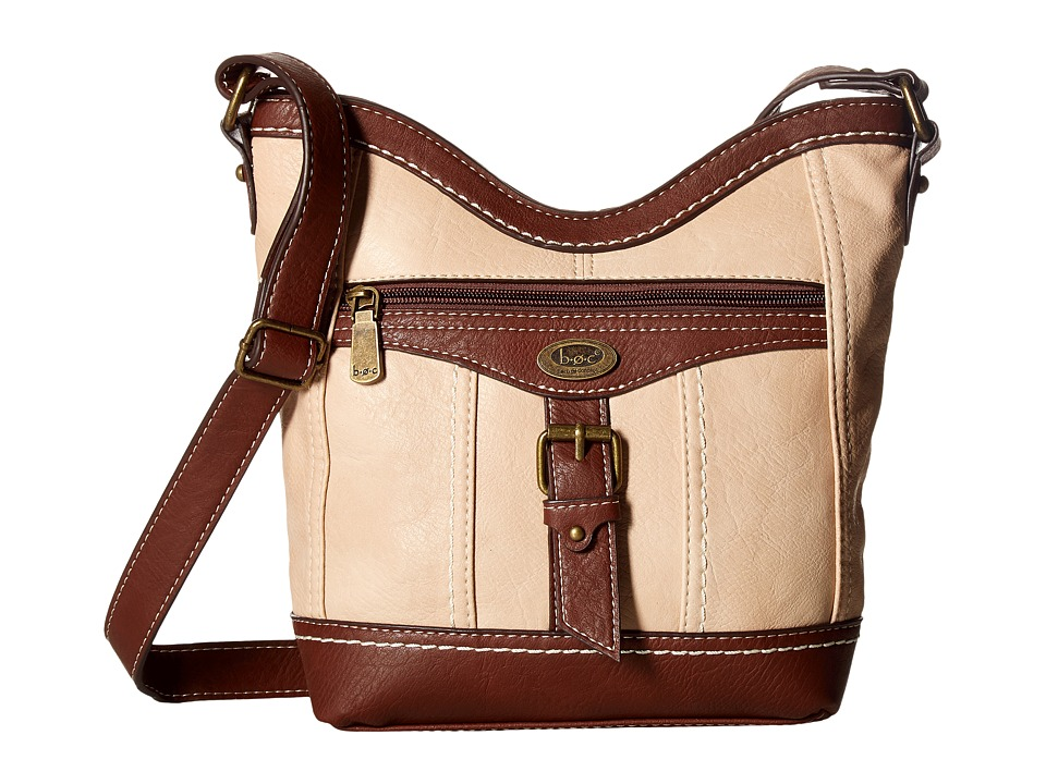b.o.c. - Bal Harbour Power Bank Crossbody (Stone/Saddle) Cross Body Handbags