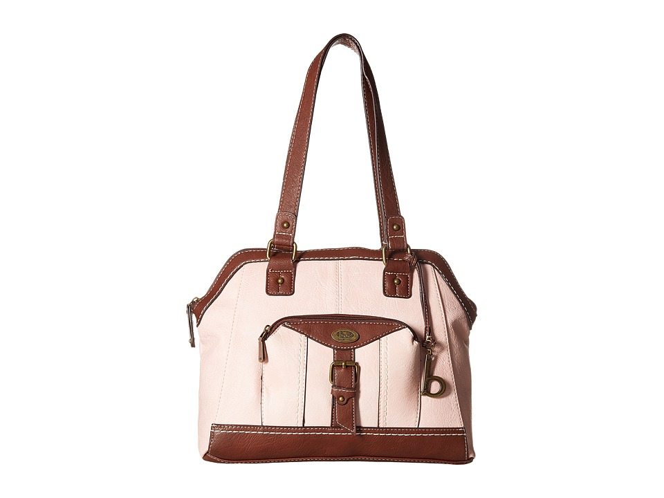 b.o.c. - Bal Harbour Power Bank Satchel (Blush/Saddle) Satchel Handbags