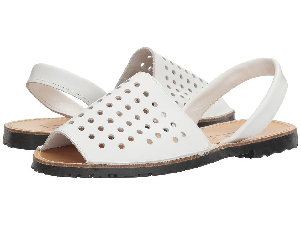 Sesto Meucci Ibizaholes (White Leather) Women