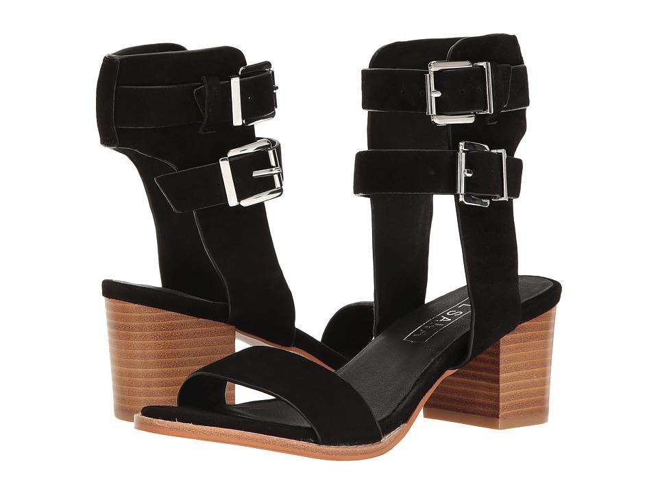 Sol Sana - Porter Heel II (Black Suede 1) High Heels