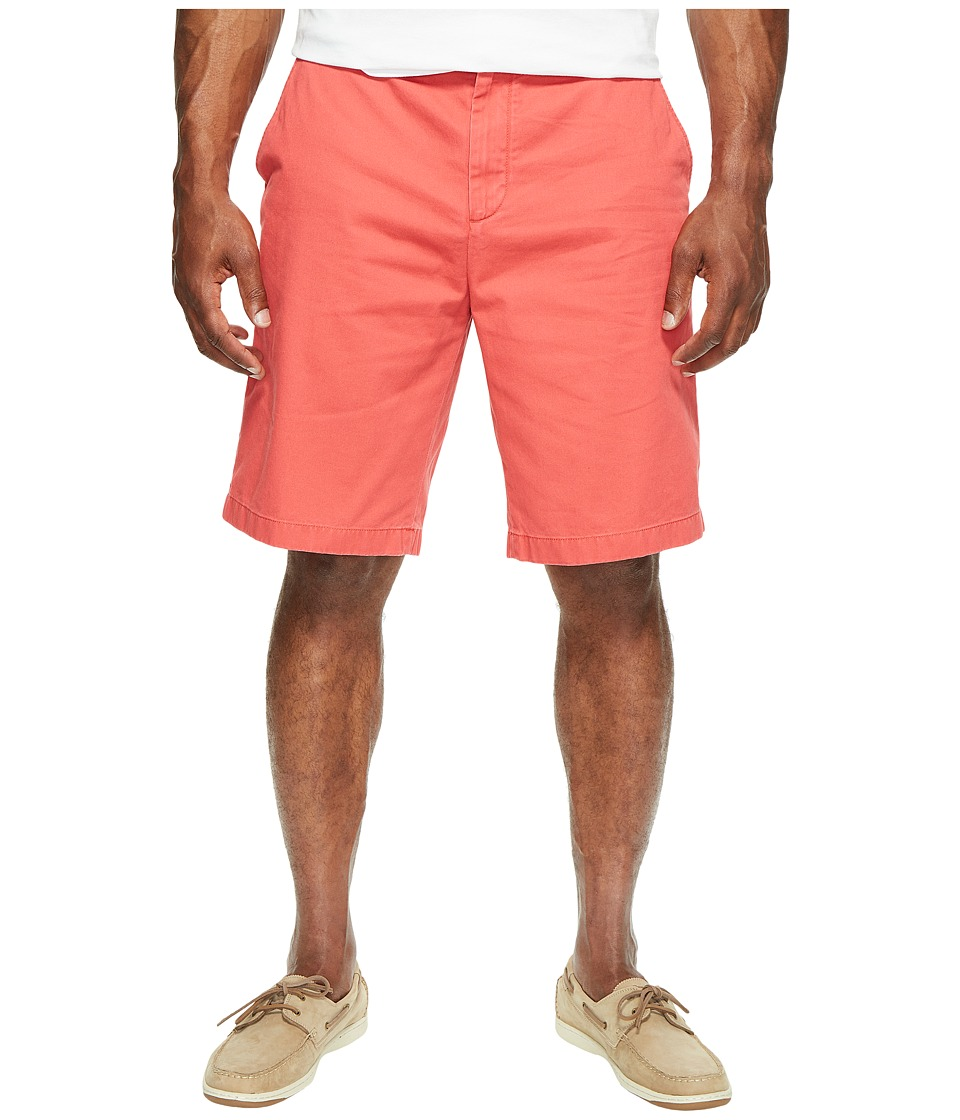 Nautica Big & Tall Big Tall True Khaki Flat Front Short (Sailor Red) Men