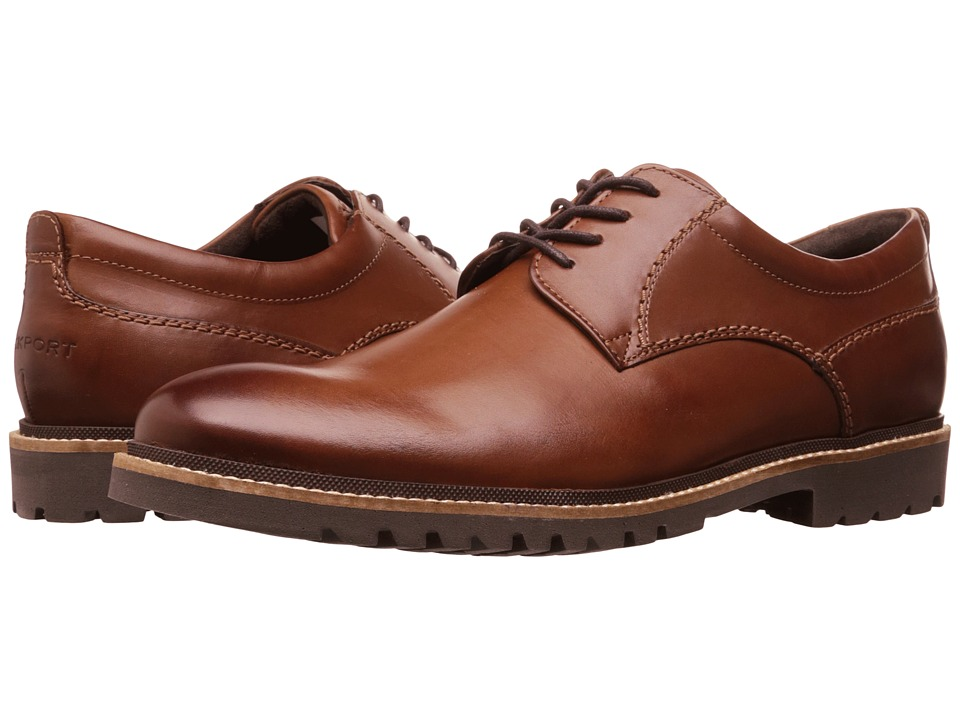 Rockport - Marshall Plain Toe Oxford (Dark Brown) Men's Lace up casual Shoes