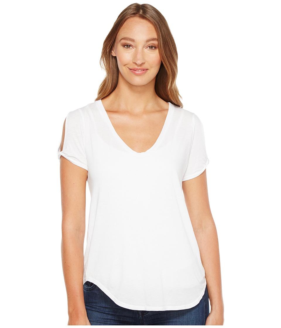 LAmade - Twist Sleeve Tee (White) Women's T Shirt