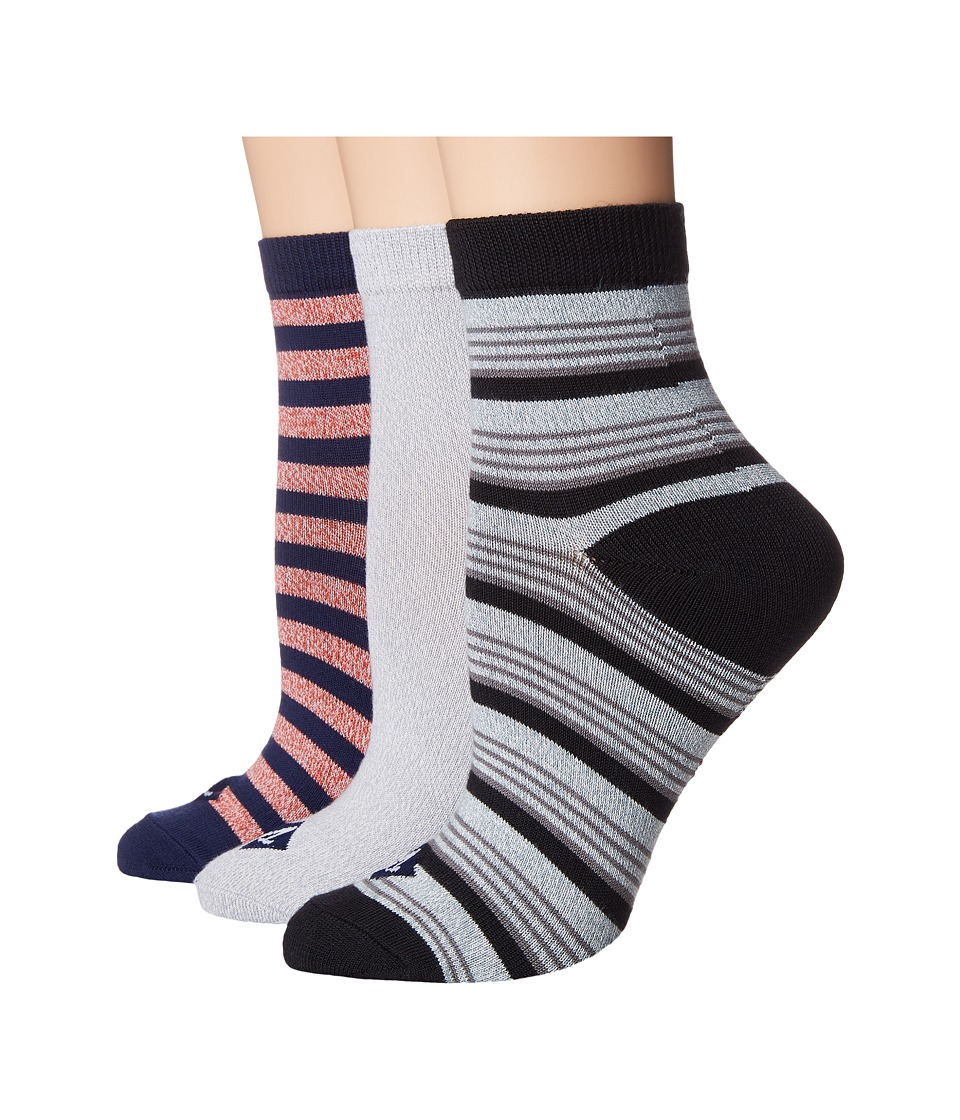 Sperry Rugby Stripe w/ Twist Ankle Sock (Navy Marl Assorted) Women