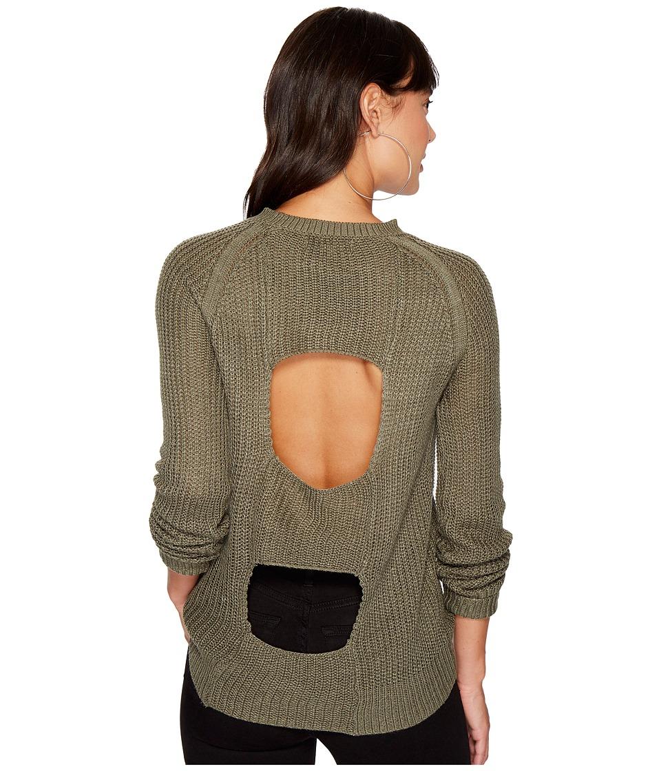 Jack by BB Dakota - Percival Open Panel Back Sweater (Light Olive) Women's Sweater
