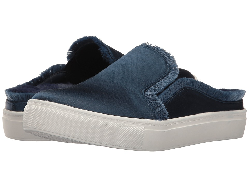 Dirty Laundry Miss Jaxon Faux Fur Lined Mule Sneaker (Navy) Women