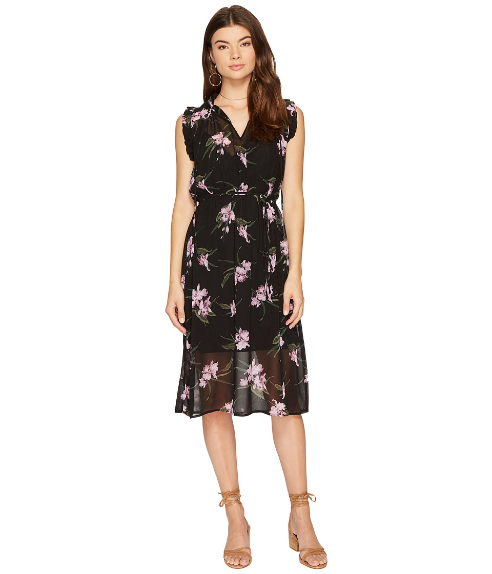 BB Dakota Sarah Sheer Printed Dress