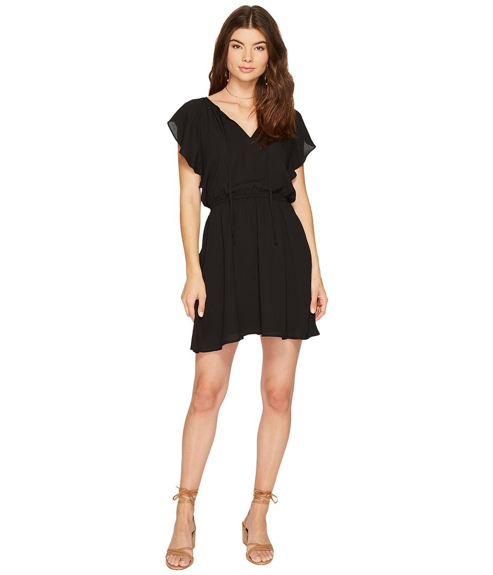 Image of BB Dakota - Adrienn Front Tie Dress (Balck) Women's Dress