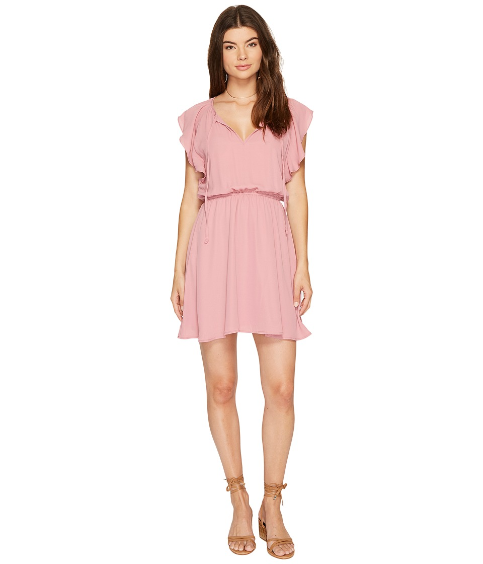 BB Dakota - Adrienn Front Tie Dress (Dusty Rose) Women's Dress