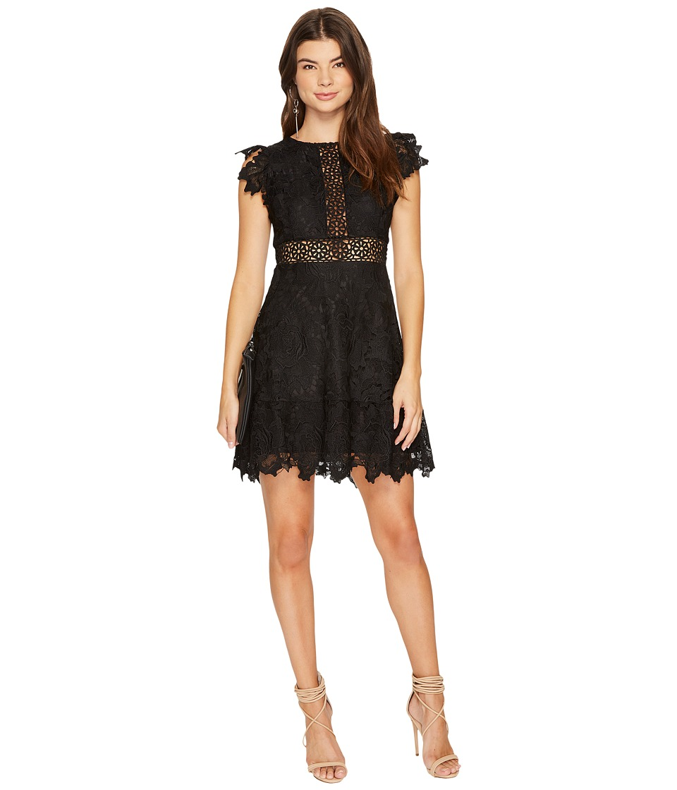 BB Dakota Calvin Scalloped Trim Lace Dress