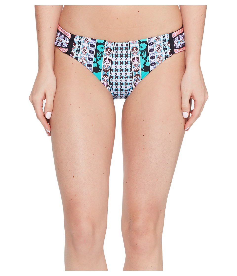 Nanette Lepore - Kimono Patchwork Siren Bikini Bottom (Multi) Women's Swimwear