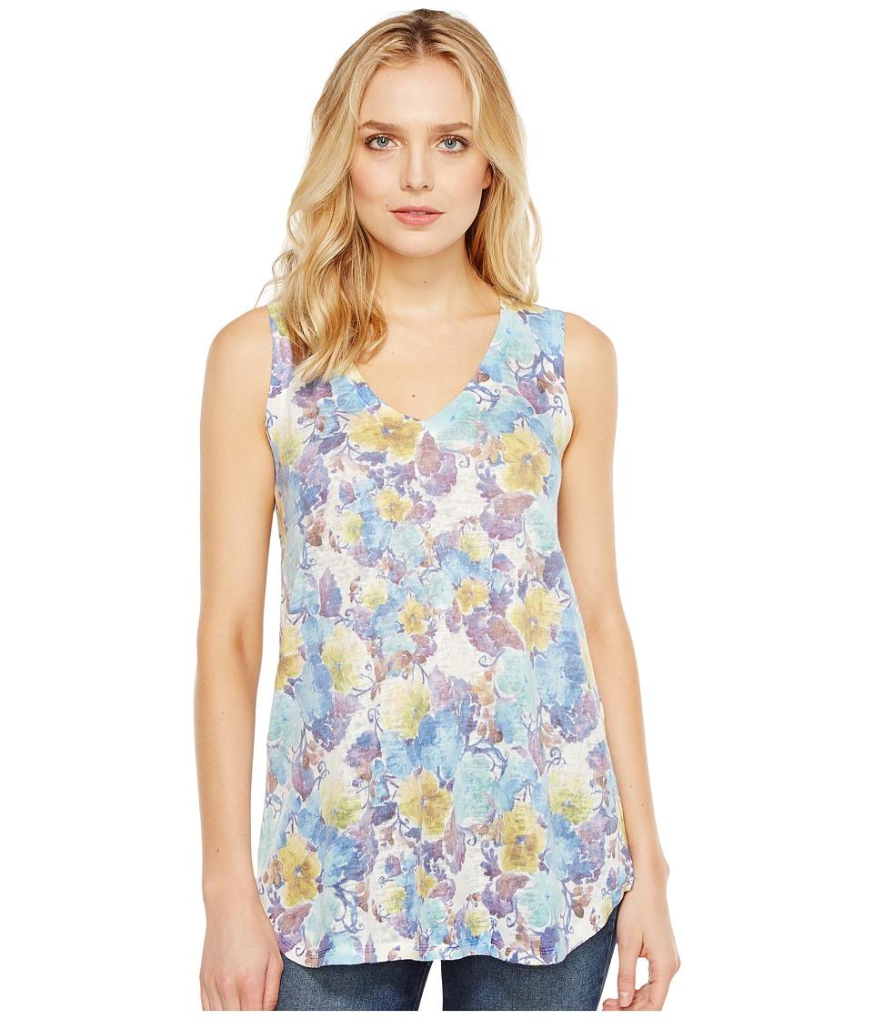 Nally & Millie - Floral V-Neck Tank Top (Multi) Women's Sleeveless