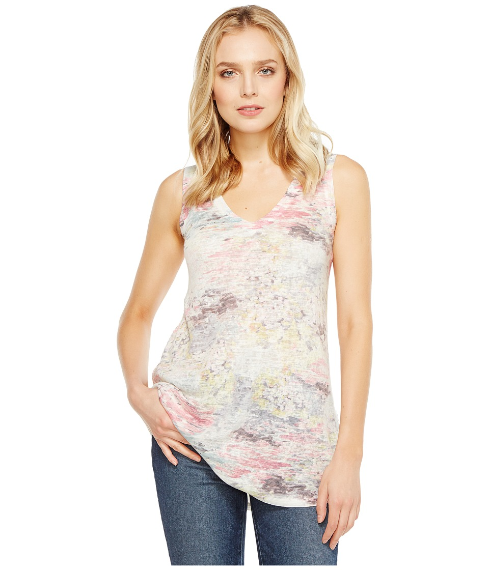 Nally & Millie - Pastel Print V-Neck Tank Top (Multi) Women's Sleeveless