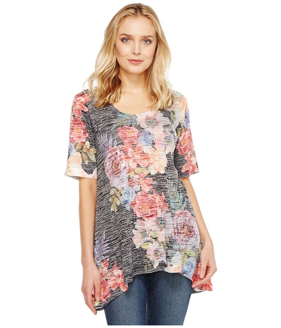 Nally & Millie - Printed Tunic Floral (Multi) Women's Clothing