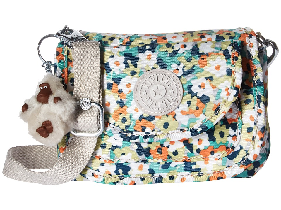 Kipling - Barrymore Print (Meadow Flower Green) Handbags