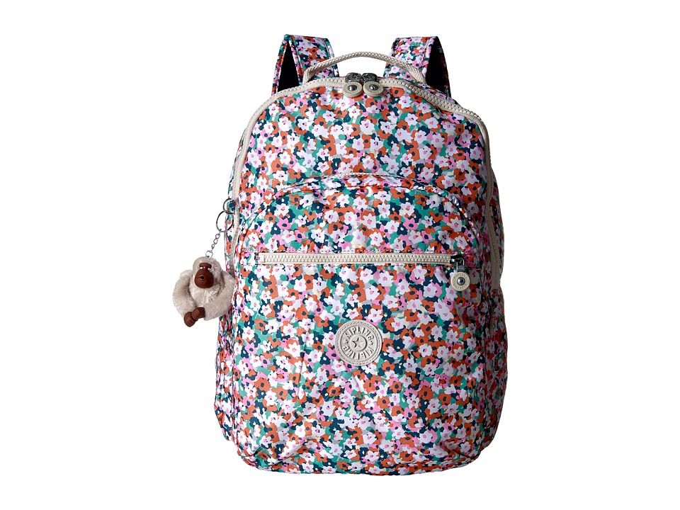 Kipling - Seoul Backpack with Laptop Protection (Meadow Flower Pink) Backpack Bags
