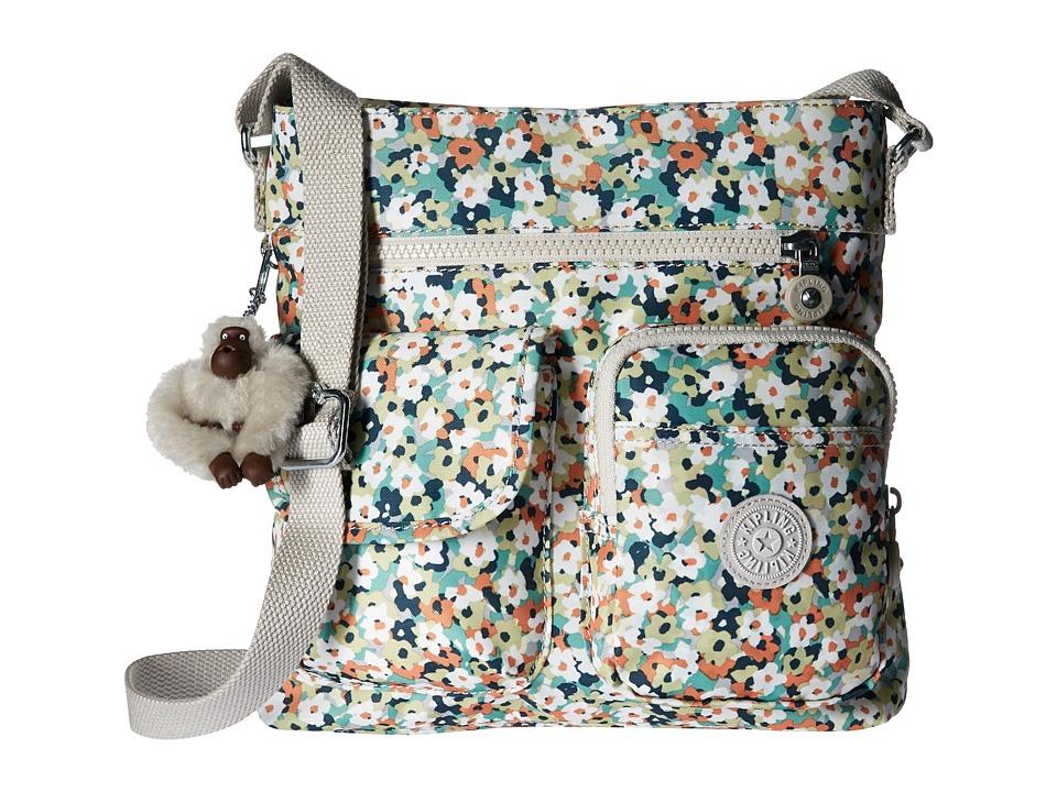 Kipling - Angie Crossbody Printed (Meadow Flower Green) Cross Body Handbags
