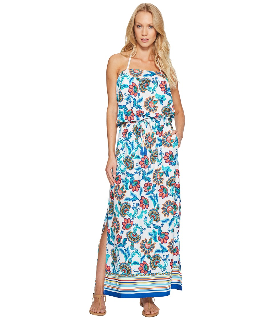 Tommy Bahama - Fira Floral Maxi Dress Cover-Up (White) Women's Swimwear