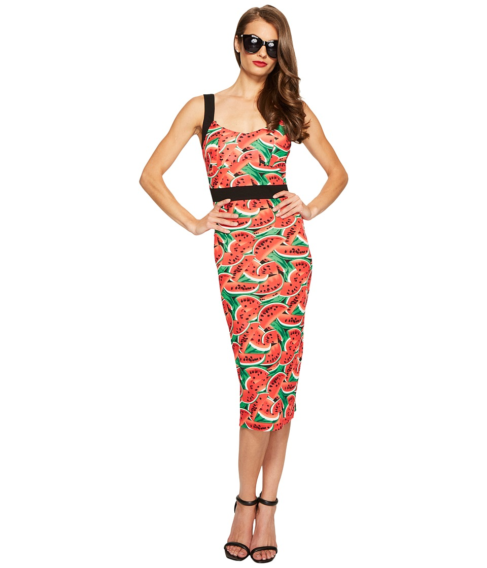 Unique Vintage - Summerstock Fitted Dress (Watermelon Print) Women's Dress