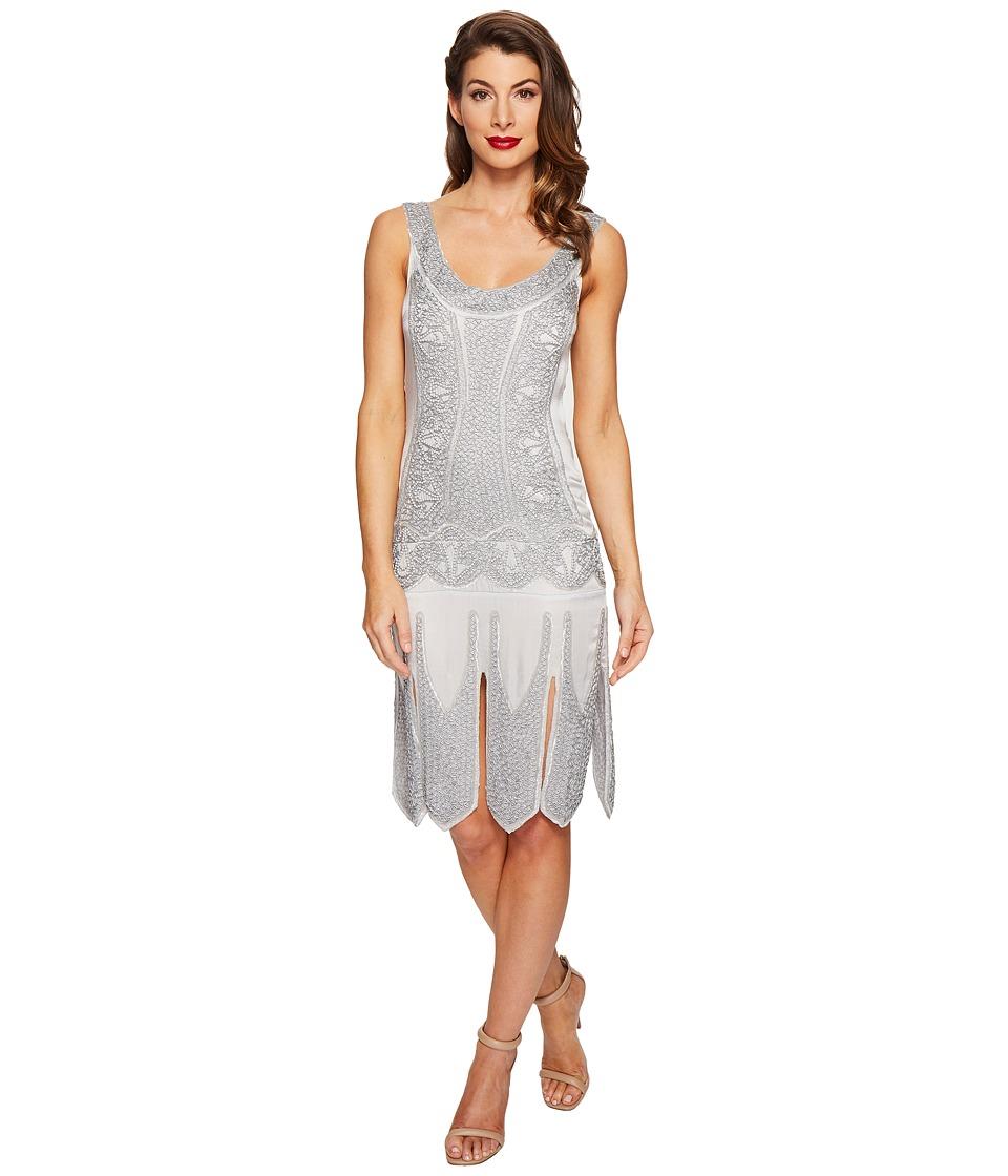 Unique Vintage - Eleanor Flapper Dress (Silver) Women's Dress
