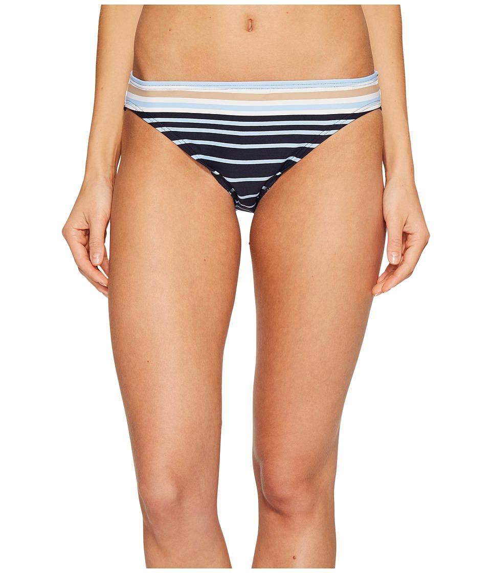 MICHAEL Michael Kors Abby Stripe Classic Bikini Bottom Khaki Swimwear