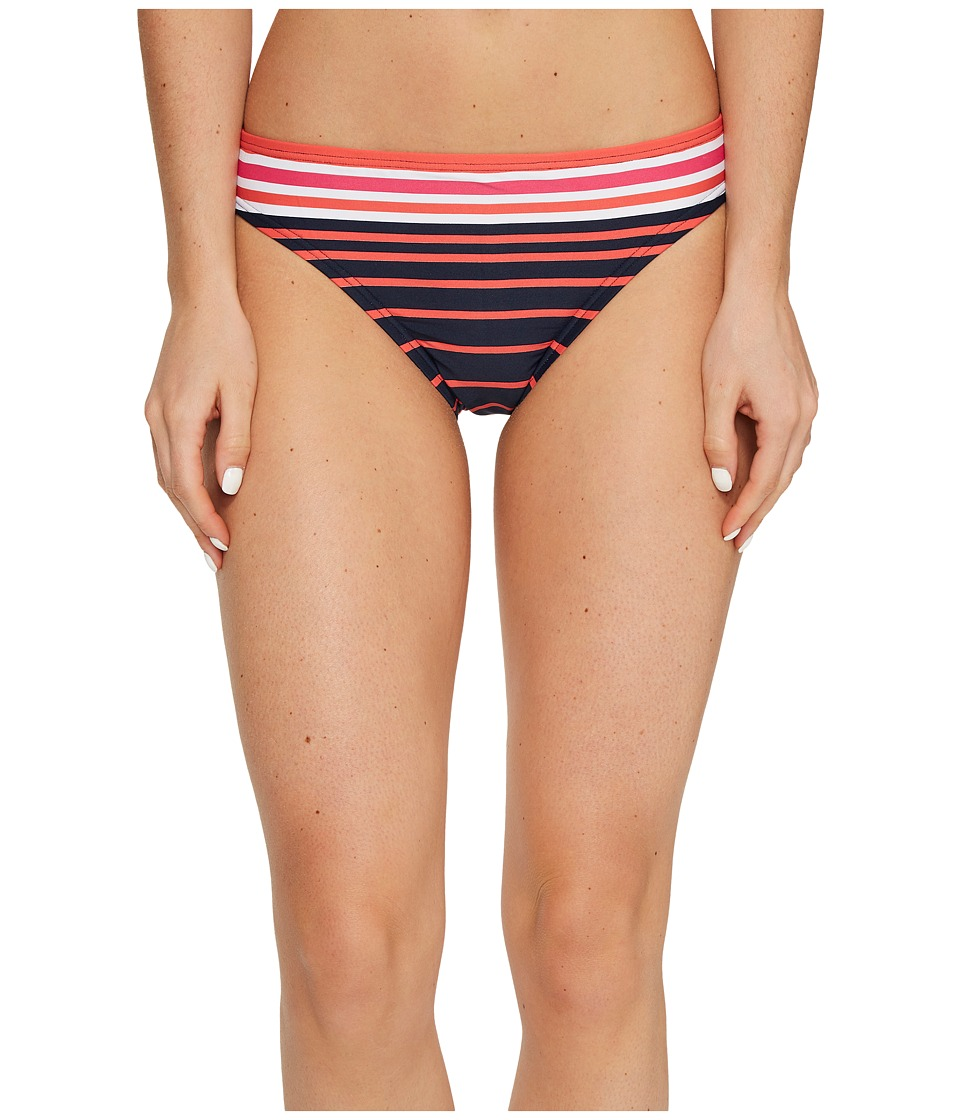 MICHAEL Michael Kors - Abby Stripe Classic Bikini Bottom (Electric Pink) Women's Swimwear