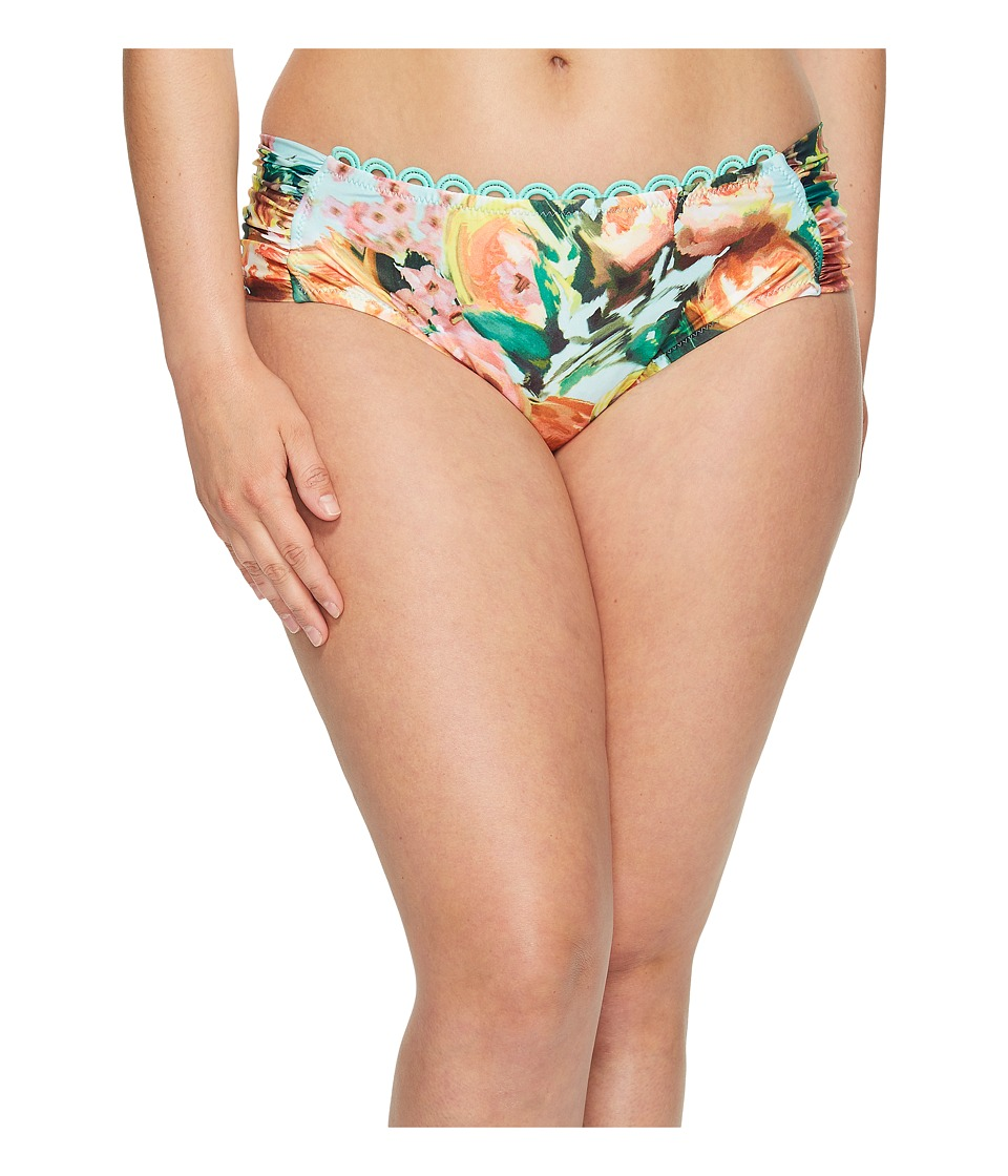 BECCA by Rebecca Virtue - Plus Size High Tea Hipster Bottom (Multi) Women's Swimwear