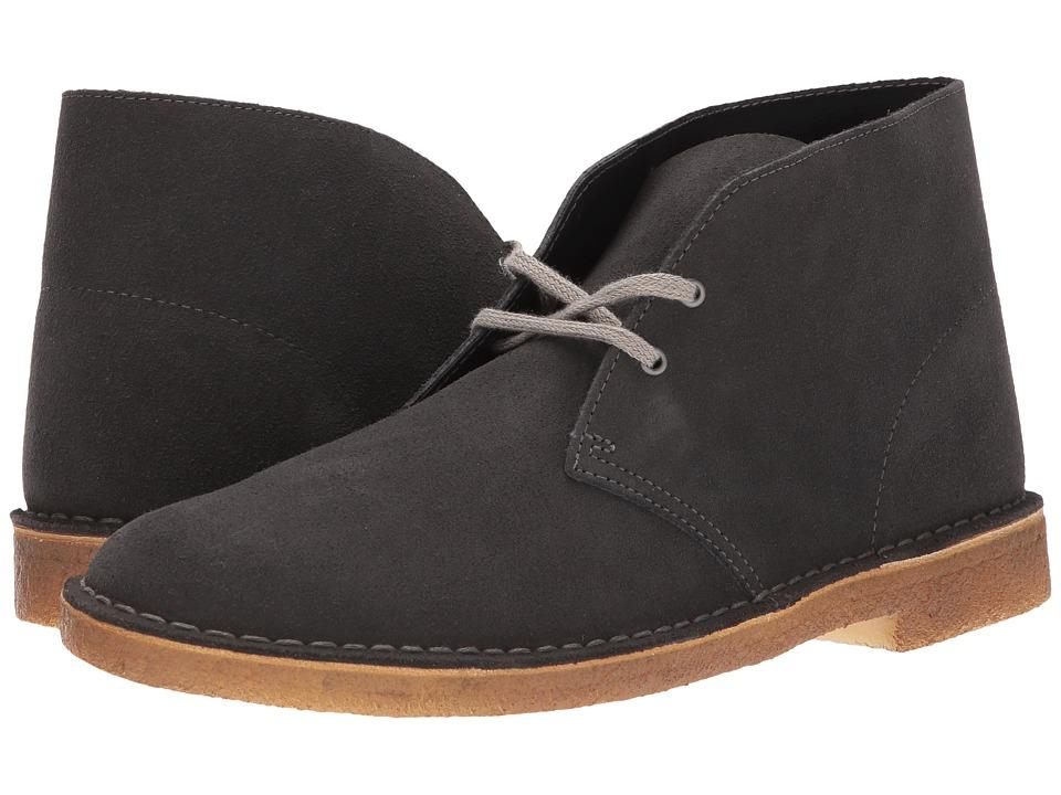 Clarks - Desert Boot (Dark Grey Suede 2) Men's Lace-up Boots