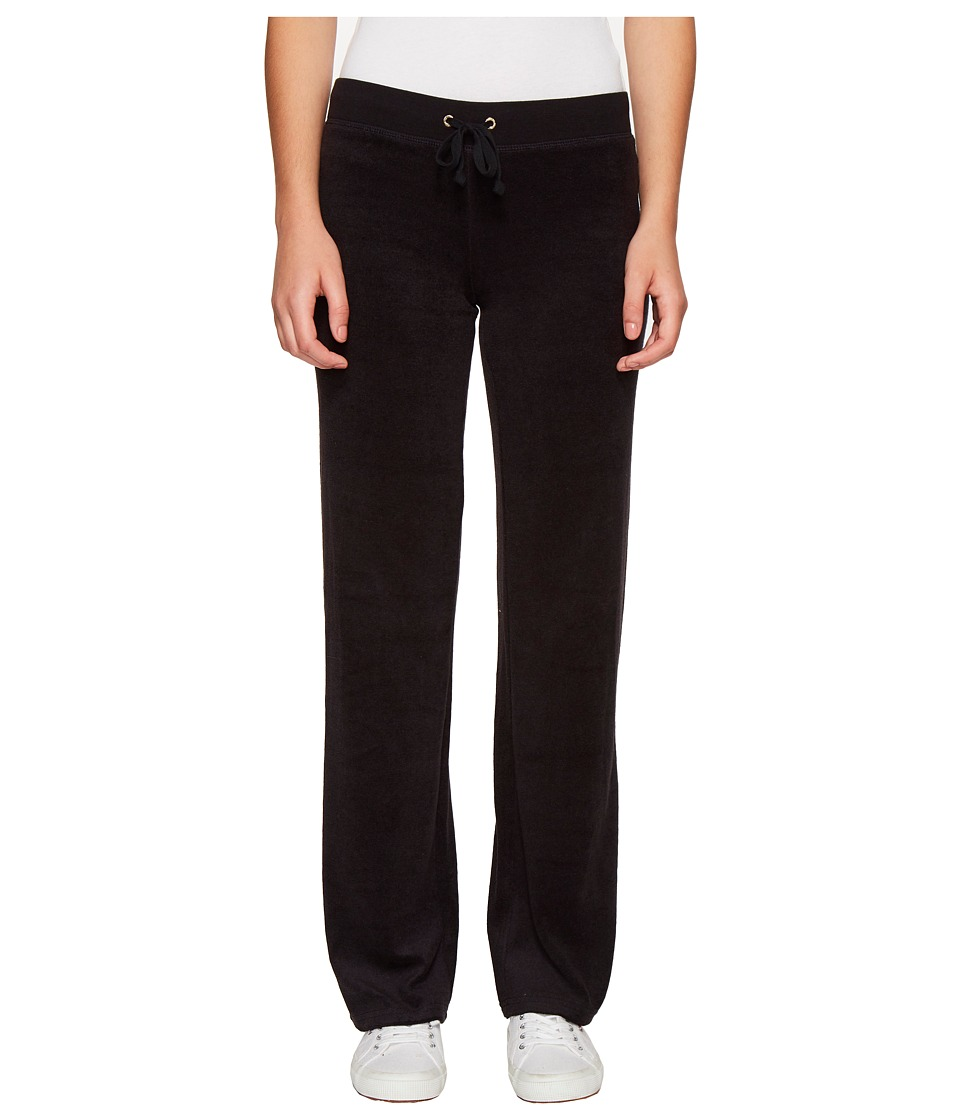 Juicy Couture - Mar Vista Microterry Pants (Pitch Black) Women's Casual Pants