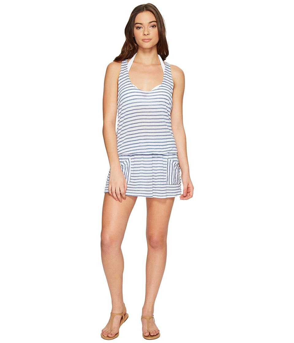 Splendid Chambray All Day Pocket Dress Cover-Up Chambray Swimwear