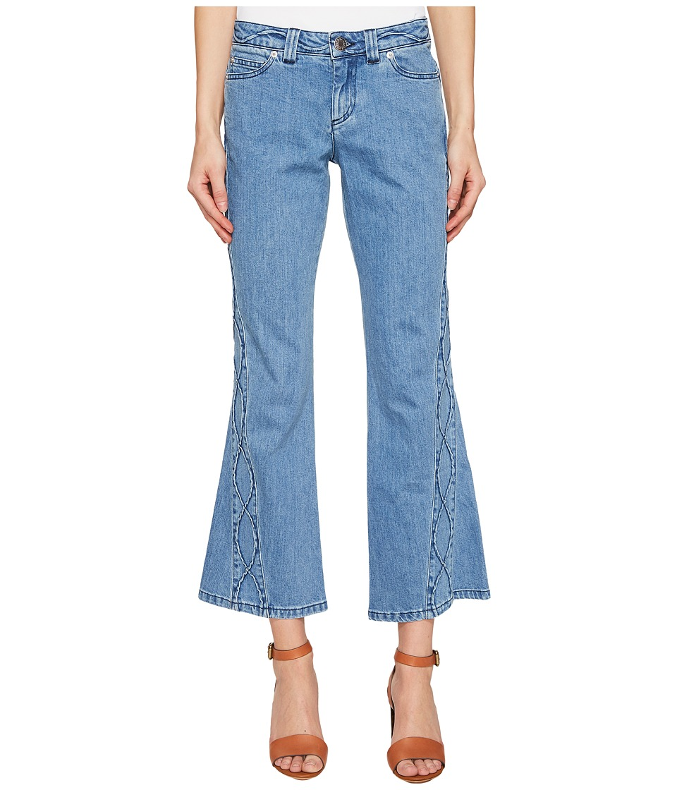 See by Chloe - Denim Pants w/ Embroidery (Stoned Indigo) Women's Clothing