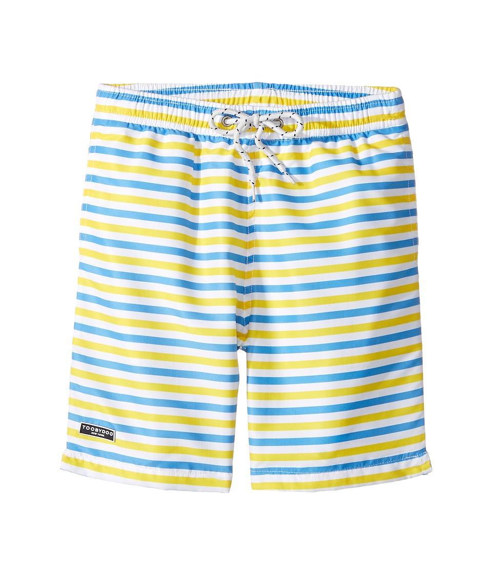 Toobydoo - Blue Yellow Stripe Swimsuit - Regular (Infant/Toddler/Little Kids/Big Kids) (Blue/Yellow/White) Boy's Swimwear