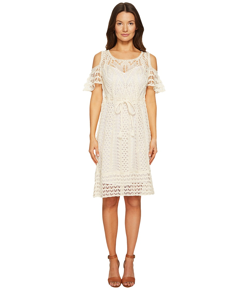 See by Chloe - Crochet Drawstring Dress (Natural White) Women's Dress