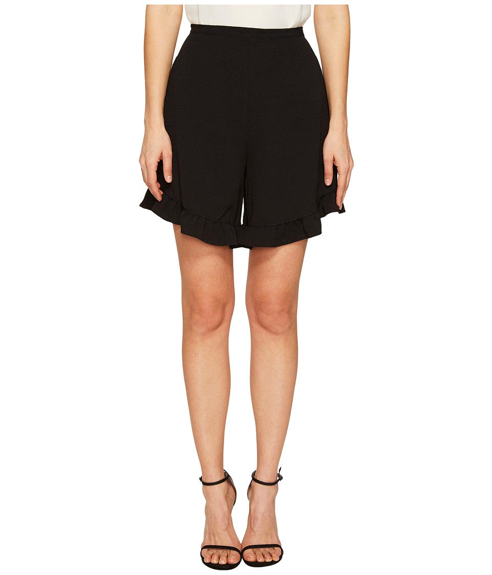 See by Chloe - Crepe Ruffle Shorts (Black) Women's Shorts